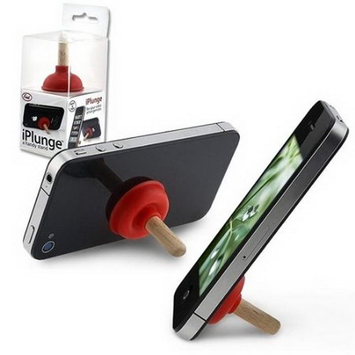 Red Plunger iPlunge Stand Holder for iPhone 5 & 4S