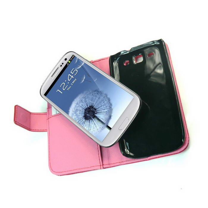 KaysCase Book Snap on Leather Cover Case for Samsung Galaxy S3 SIII