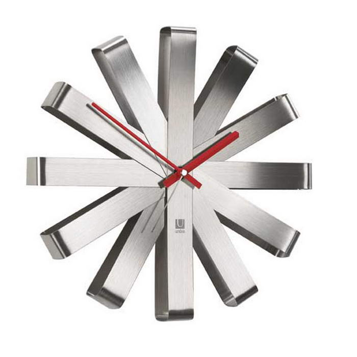 Umbra Ribbon Stainless Steel Wall Clock