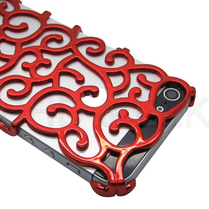 Luxury Chrome Hollow Pattern PC Hard Case for iPhone 5